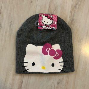 Gray Hello Kitty beanie